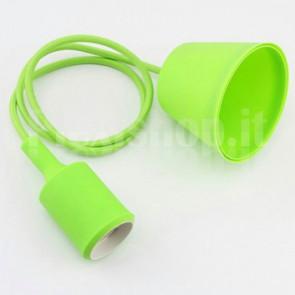 Lampadario portalampada E27 in silicone - Verde