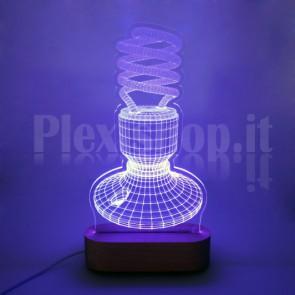 Lampada 3D Neon RGB