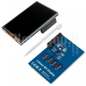 "LCD TFT touchscreen 3.5"" HDMI per Raspberry Pi"