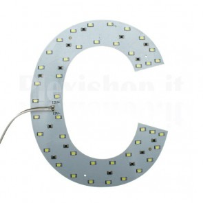 Lettera luminosa a Led - C
