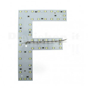 Lettera luminosa a Led - F