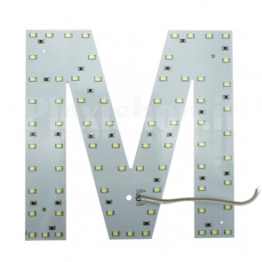 Lettera luminosa a Led - M