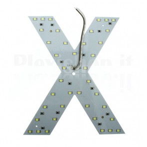 Lettera luminosa a Led - X