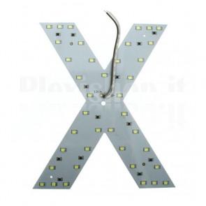 Lettera luminosa a Led - X