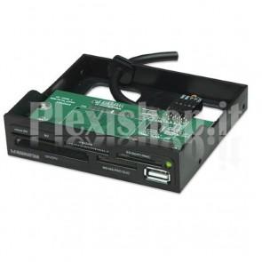 Lettore interno 60 in 1 interno USB 2.0 Nero alloggio 3.5''