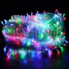 Luci natalizie filari 30m 300 LED MULTICOLORE