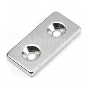 Magnete Neodimio - Cubetto 40x20x5 mm