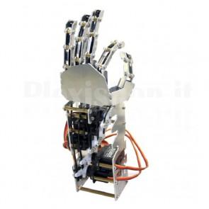 Mano sinistra a 5 dita per robot umanoide con servo, 5 gradi di libertà