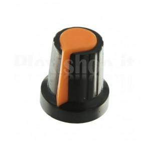 Manopola per potenziometro 15x17, arancione