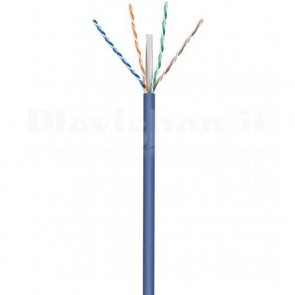 Matassa U/UTP, Cavo Cat.6A Rame 305m Rigido Blu
