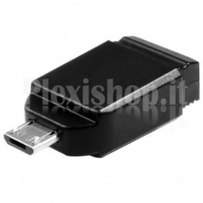 Memoria Nano USB 2.0 Store 'n' Go 8GB con Adattatore Micro USB