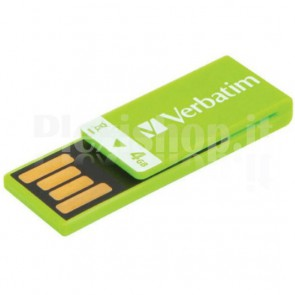 Memoria USB 2.0 Clip-it da 4Gb Colore Verde