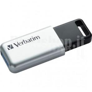 Memoria USB 3.0 Verbatim con Crittografia AES 16GB Silver