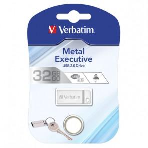 Mini Memoria USB Verbatim con Portachiavi 32GB Silver