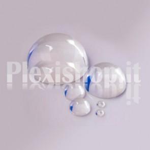 Semisfera in Plexiglass Stampata Ø8 mm Trasparente