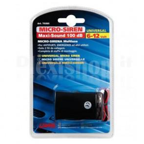 Micro sirena elettronica a 6/12V