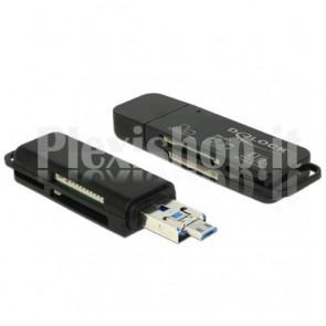 Mini Lettore di Memorie USB OTG con USB A 3.0+Micro USB B M Combo
