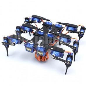 Mini robot a sei zampe in alluminio, 18DOF, kit meccanica completa e servomotori