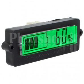 Indicatore pannello carica batteria, LCD retroilluminato verde