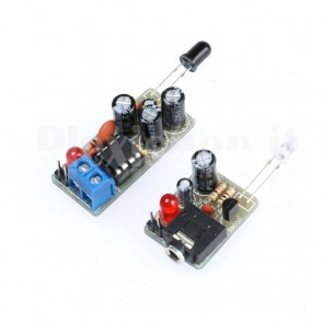 Moduli trasmettitore e ricevitore audio a infrarossi, kit da montare
