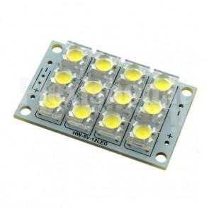 Modulo a 12 LED ad altissima luminosità, 5Vcc