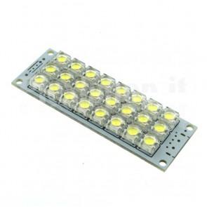 Modulo a 24 LED ad altissima luminosità, 5Vcc