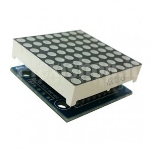 Modulo con matrice LED 8x8 e MAX7219 in kit