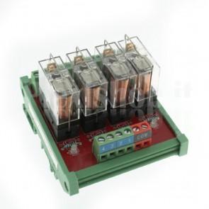 Modulo DIN Relay OMRON 16CH 24V 10A per PLC