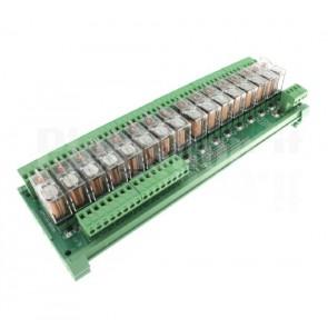 Modulo DIN Relay OMRON 16CH 24V 16A per PLC NPN