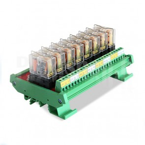 Modulo DIN Relay OMRON 8CH 24V 10A per PLC