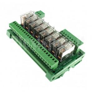 Modulo DIN Relay OMRON 8CH 24V 16A per PLC NPN