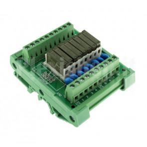 Modulo DIN Relay PA1A 8CH 24V per PLC NPN