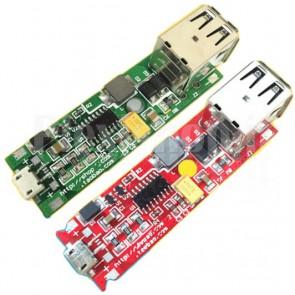 DIY Power Bank due uscite USB (1A-2.1A) per batterie litio 3.7V
