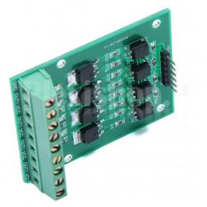 Modulo interfaccia di potenza a MOSFET a 4 canali optoisolati