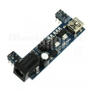 Modulo regolatore di tensione MB102 per breadboard 3.3Vcc, 5Vcc
