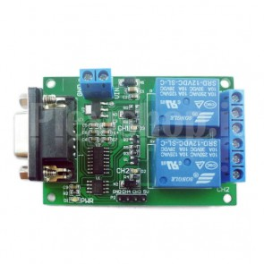 Modulo Relay a 2 canali RS232 seriale