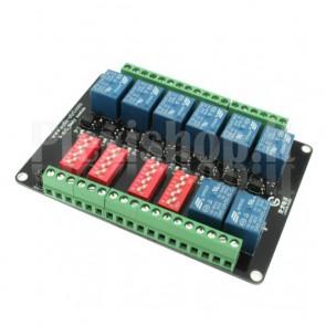 Modulo Relay a 8 canali optoisolati ad alta velocità, 10A 24V