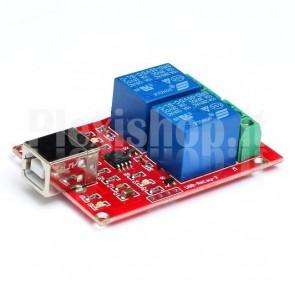 Modulo Relay USB a 2 canali, 10A