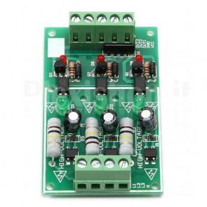 Modulo rilevatore di tensione AC optoisolato a 3 canali con uscita NPN