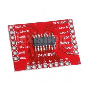 Modulo shift register 74HC595 per Arduino