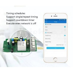 Modulo Sonoff TH16 Wi-Fi , monitor di temperatura e umidità tramite smartphone, 16A