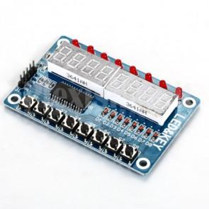 Modulo TM1638 per Arduino e MCU con pulsanti, led e un display 8 digit a 8 segmenti