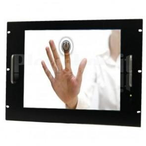 Monitor LCD 17'' Touch Screen per Rack 19'' 8 Unità Nero
