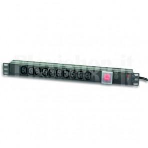 Multipresa 10 posizioni VDE Interruttore e Spina C14