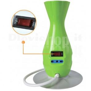 Multipresa 5 Porte Smart Power da Scrivania da Tavolo con USB Verde