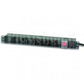 Multipresa 8 Posizioni da Rack 19'' con Interruttore