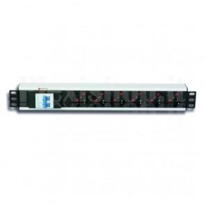 Multipresa per Rack 19'' 6 Posti con Magnetotermico e spina C20