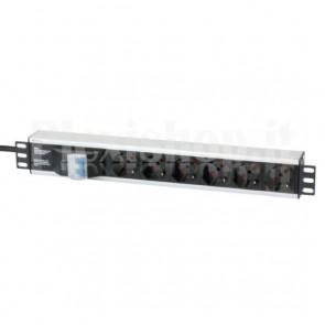 Multipresa per rack 19'' 6 posti con magnetotermico
