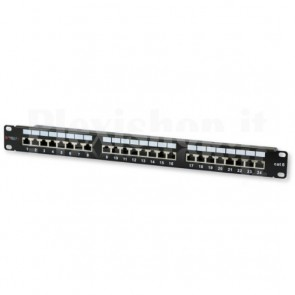 Pannello Patch STP 24 Posti RJ45 Cat.6 Techly