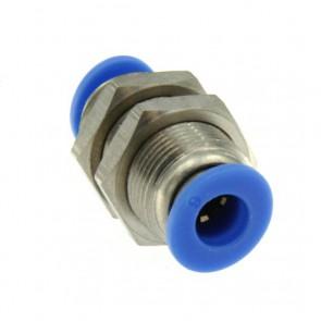 Passaparete Innesto rapido pneumatico per tubo 10 mm filetto M20